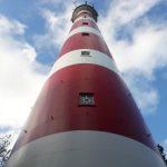 Blick vom Fuße des Leuchtturms auf Ameland
